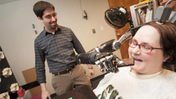 Quadriplegic Uses her Mind to Control Her Robotic Arm - 27 Science Fictions That Became Science Facts in 2012